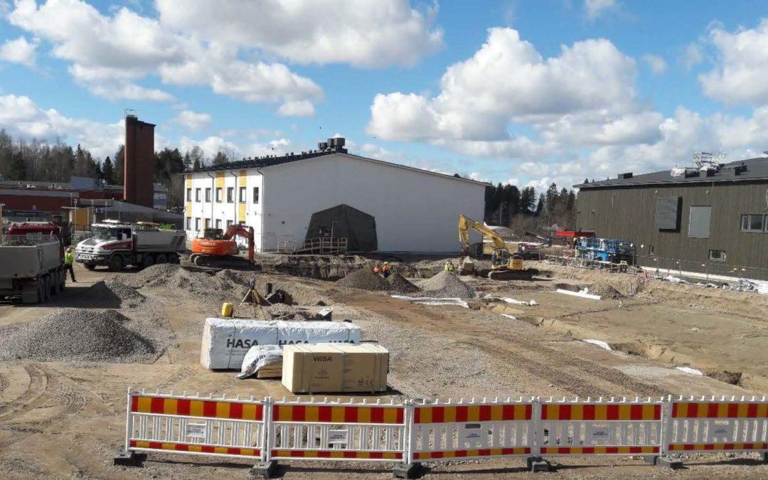 Kuva rakennustyömaasta