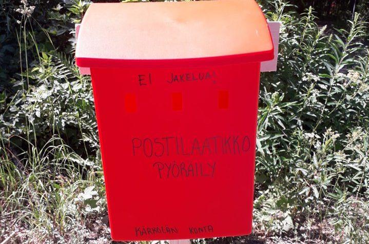 Postilaatikkopyöräily käynnissä